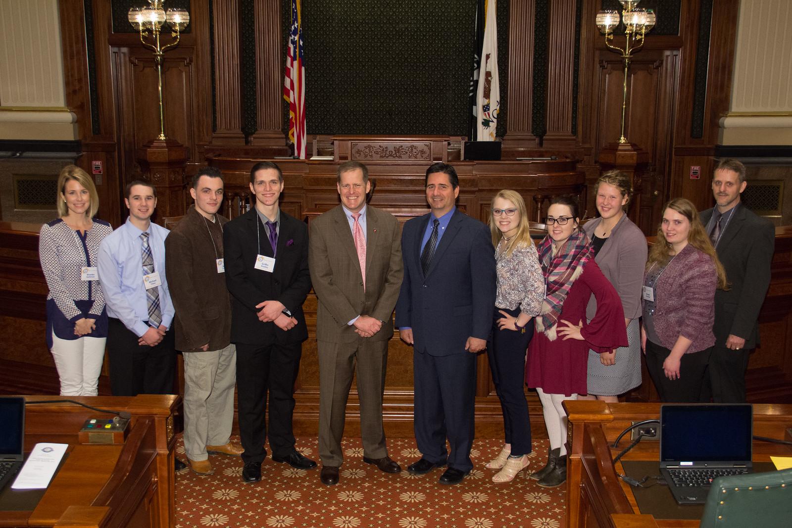 Group Photo with Senator Schimpf and Representative Costello