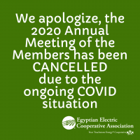 2020 Annual Meeting Cancellation Announcment
