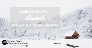 Winter office closure