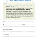 2021 Annual Meeting Scholarship Application