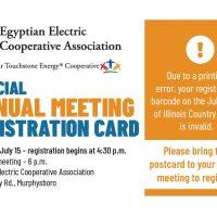 Annual Meeting Registration Postcard